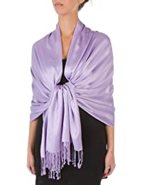 Sakkas 198cm x 71cm Textile Bio Bambou (rayonne) Doux Couleur Unie Pashmina Châle / Echarpe / Etole (12+ Couleurs)