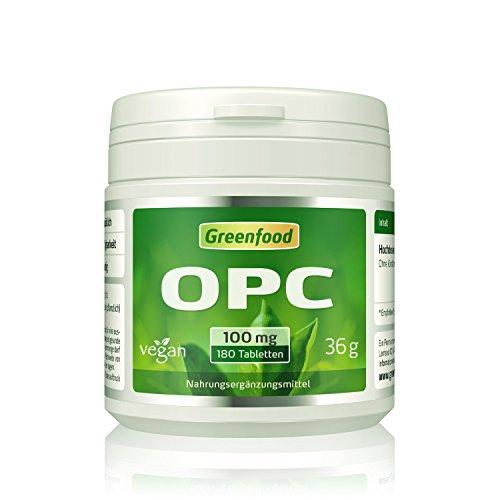 OPC, 100 mg reines OPC, hochdosiert, 180 Tabletten, vegan – der Super-Antioxidant. Gut für Herz und Kreislauf. Schlank werden und schlank bleiben. OHNE künstliche Zusätze. Ohne Gentechnik.