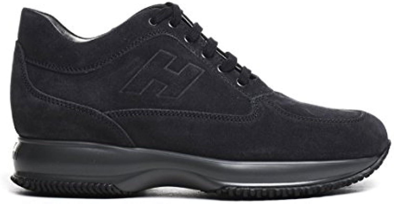 Hogan Herren HXM00N09042HG0U810 Blau Wildleder Sneakers