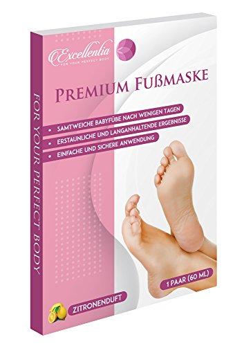 Premium Fußmaske: Hornhautsocken für samtweiche Babyfüße nach nur einer Anwendung / hervorragende Ergebnisse in 3-7 Tagen / Deutsche Anleitung + Tipps / Fuß Peeling Maske / Fuss Hornhautentferner