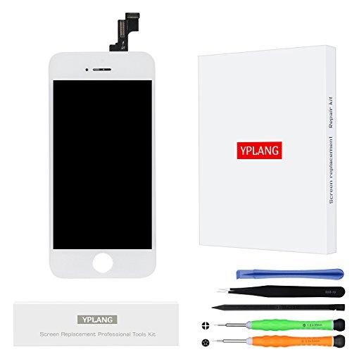 Display schermo lcd per iphone 5s - yplang originale retina digitalizzatore kit di riparazione incluso per iphone 5s 4.0