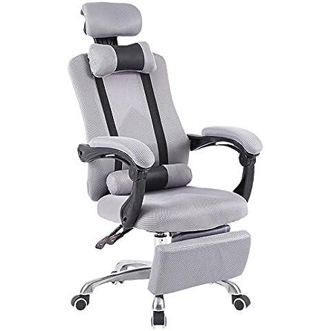 Sedia sedia computer Home Office Chair sedia girevole sedile,grigio piede,lega di alluminio in piedi