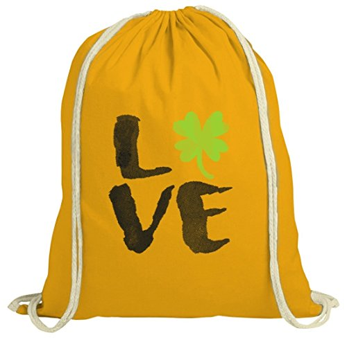 Saint Patrick´s Day St. Patricks Day natur Rucksack Turnbeutel Love St. Patricks Day gelb natur