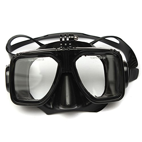 MASUNN Plongée sous-Marine Masque De Plongée Et Dry Snorkel Tube Combo pour Gopro HD Hero 2 3 4 3 Plus