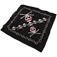 My Other Me - Pañuelo de pirata con calavera, talla única (Viving Costumes MOM01490)