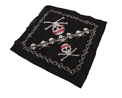 Viving Costumes Pirate s Scarf with Skull  35 x 35 cm
