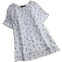 Luckycat Mujeres Ocasionales Manga Larga Color sólido Lino Cuello En V Dobladillo Irregular De Decoracion Camisas