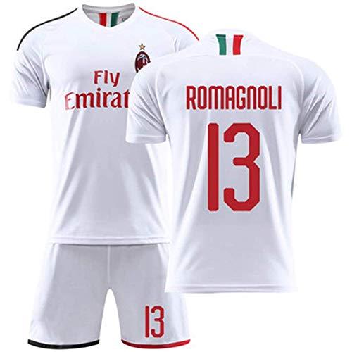 Hhwei Fußballuniform Passen Kind Kurz Ärmel Trikot und Shorts Jungs Mädchen Trainingsanzug AC Milan #13,XS