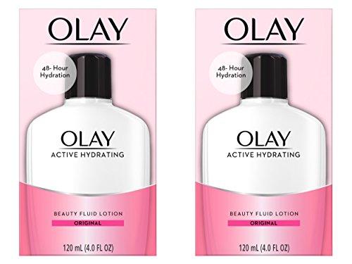Olay Active Hydrating Beauty Fluid Original Crème Hydratante - Lot de 2