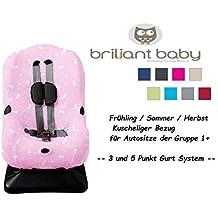 BriljantBaby f/ür Maxi Cosi RODI Fr/ühling // Sommer // Herbst FUCHSIA FROTTEE SchonBezug // Ersatzbezug // Universal-Bezug Gruppe 2//3 wie z.B R/ömer KID etc.