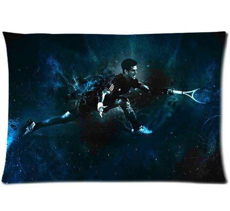 Custom Novak Djokovic Home Decorative Soft Throw Pillowcase Cushion Custom Pillow Case Cover Protecter with Zipper Printed Copricuscini e federe (50cmx75cm)