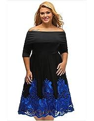 Collar sujetador XL funda siete falda Vestido bustier bordado cosido,XXL,azul