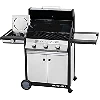 Cadac Meridian 3 Burner Gas BBQ with Side Burner Stainless Steel