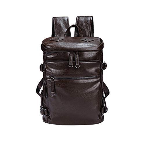 "HF morning 15.6"" Zoll Laptop Backpack Leder Herren Rucksack Groß Notebookrucksack Wasserdicht Schultasche"