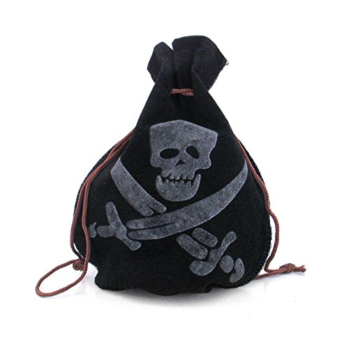 papapanda Piraten Schatzbeutel für Karibik Kapitän Kostüm