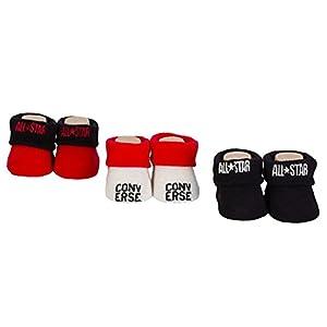 Converse – Calcetines – para bebé niña Rojo blanco 0-6 Meses