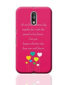 PosterGuy Moto G4 Plus Covers & Cases - As Our First Valentines Day Together | Designed by: Designer Chennai