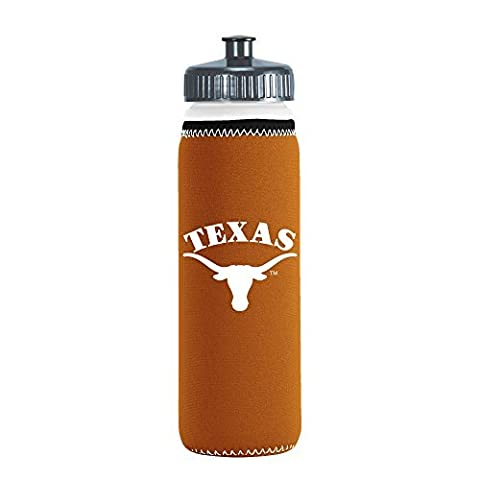 NCAA Texas Longhorns Van Metro Squeezable LDPE Water Bottle, Orange, 22-Ounce by Kolder