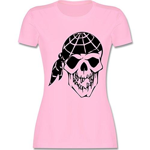Piraten & Totenkopf - Totenkopf - tailliertes Premium T-Shirt mit Rundhalsausschnitt für Damen Rosa
