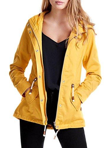 ONLY Onllorca Spring Parka Jacket Cc Otw, Giacca Donna, Giallo (Yolk Yellow), 36 (Taglia Produttore: Small)