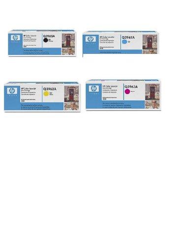 4 Original Tonerkartuschen für HP Color Laserjet 2550, 2820, 2840, 2550N, 2550TN (Black/Yellow/Cyan/Magenta) Toner Color Laserjet All-in-one