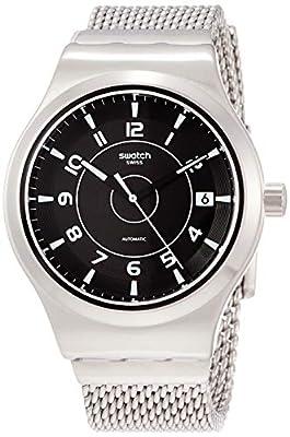 Swatch Reloj Analógico para Hombre de Automático con Correa en Acero Inoxidable YIS418MA de Swatch