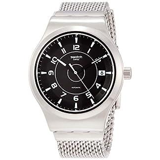 Swatch Reloj Analógico para Hombre de Automático con Correa en Acero Inoxidable YIS418MA