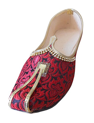 Kalra Creations , Chaussons pour homme Maroon & Black