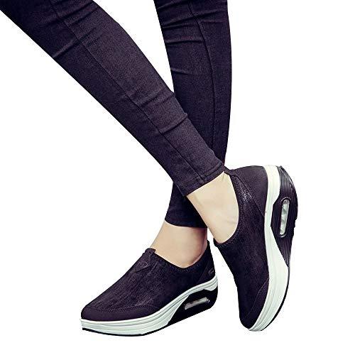 en Modische Dicke Plateauschuhe Innen Dicker Sportschuhe Plattform Slip On für Damenschuhe Herbst Winter Sneaker Übergangsschuhe Winterschuhe Trekkingschuhe Laufen Wandern ()