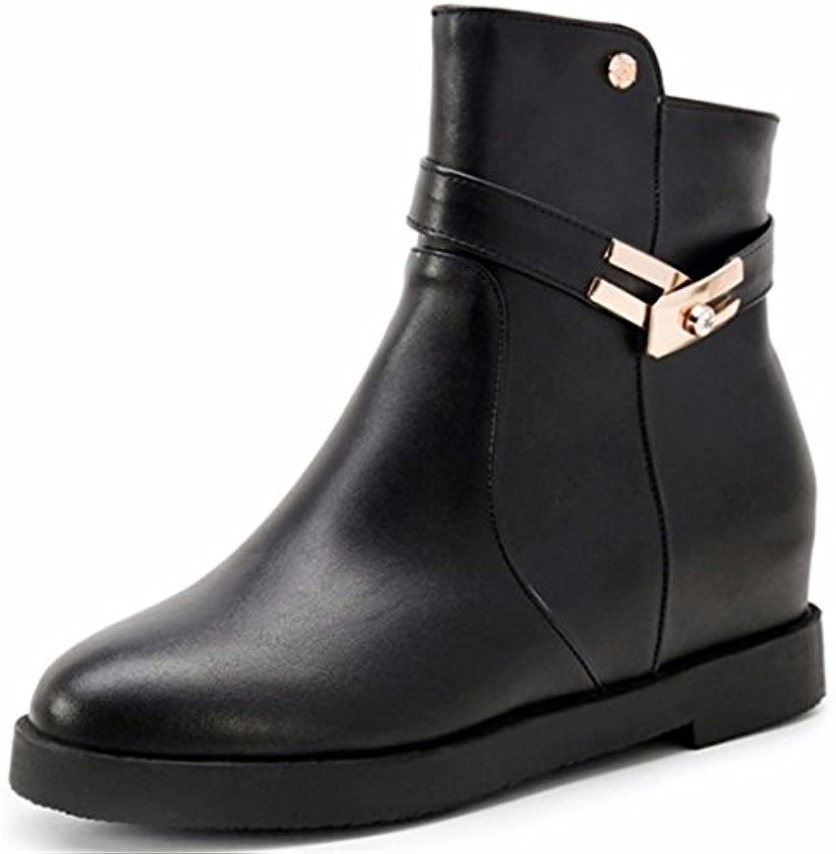La mujer en el otoño y el invierno aumente Martin botas con grandes patios y botas cortas