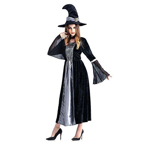 Slocyclub Damen Noble Glamour Hexe Kostüm aus dem Samt