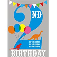 Claire Giles Hatful of Happy Age 2 Birthday Card - Blue