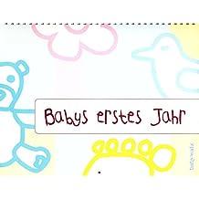 Bilder-Wand Baby Bilder-Tafel 12 Monate Bilder-Kalender Baby-Kalender