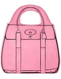 Mustard sac de course pliable sac à main couleur rose bonbon
