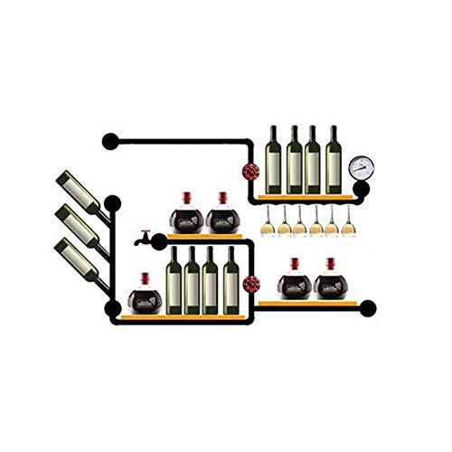 ll Wine Rack, Multifunktions-Speicher-Ausstellungsstand für Rotweinflaschen Glassware Family Albums -130 × 20 × 90cm ()