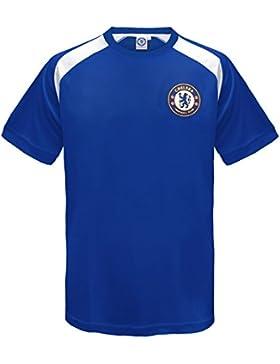 Chelsea FC - Camiseta oficial de entrenamiento - Para niño - Poliéster - Azul y blanco