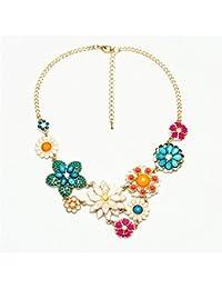 forufor Jersey de cristal cadena longitud Nacional viento retro colgante & necklace-style 1