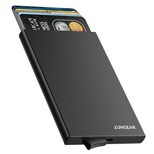 design intemporel 6946f 5ef09 LUNGEAR Porte Carte Automatique Pop up Metal Titulaires De La Carte De  Crédit RFID Blocage en Aluminium Bank Card Case Wallet détient 4-6 Cartes  pour ...