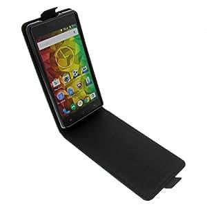 foto-kontor Tasche für MEDION Life E5001 Smartphone Flipstyle Schutz Hülle Schwarz