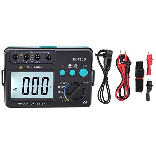 Akozon Isolationswiderstand Tester HDT20B 2500V Digital Widerstandsmessgeräte Tester Auto Range Ohm Megohmmeter (ohne Batterieversorgung)