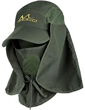 MoKo Gorra de protección solar UV,sombrero de pesca de secado rápido,360°exterior Gorra de protección solar UPF...