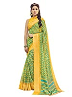 This green and yellow color party wear saree is an excellent outfit that would give a stylish and modern look to the wearer. This party wear saree is made from silk fabric and beautified with gorgeous print and border work that gives a soothi...