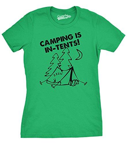 Crazy Dog Tshirts Women's Camping is In Tents T Shirt Funny Intense Camping Shirt for Women (green) XXL - damen - XXL (Mädchen-pfadfinder-verdienst-abzeichen)