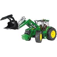 BRUDER - 03051 - Tracteur JOHN DEERE 7930 vert avec fourche