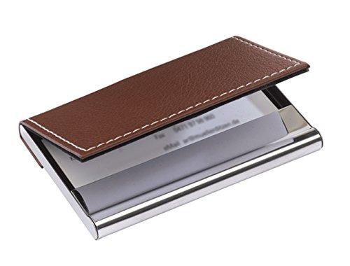 Visitenkartenhalter Box mit Magnetverschluss Visitenkartenetui braun Visitenkarten Portfolio