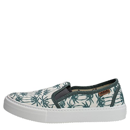 Victoria Slip On Estamp Tropicales, Baskets mode mixte adulte Blanc