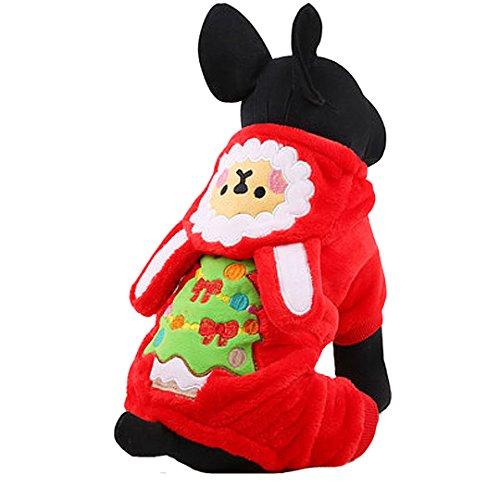AiSi Hund Hündchen Strickjacke Jacke Pullover Hunde-T-Shirt, Haustier Kleidung für kleine Hunde rot (Keine Melden Kostüme)