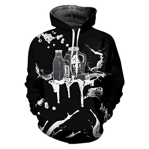 Pokem&hent felpa con cappuccio da uomo a manica lunga con stampa 3d di teschi stampati hip hop hoodies dark grey xxxl