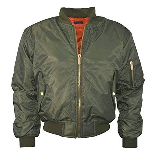 YHXMG Damen Jacke HerbstjackeDamen CoolZip Gepolsterte Feste Bomberjacke Damen Biker Coat Outwear, Grün, L (Weiße Und Jacke North Face Rote)