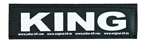 Julius-K9, 162LR-K-36708, ORIGINAL Interchangeable Patches, Size: Small, Black label with white fluorescent text, 1 pair… 2